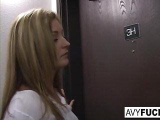 Deep Throats Avy Scott wants a little booty call after her meeting