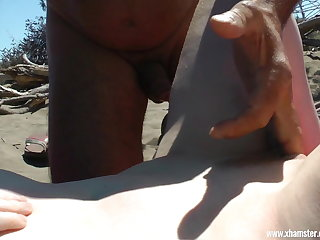 Nudist The beach whore for everyone on Gran Canaria UNCUT