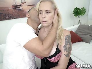 Busty Mom's hairy pussy fucked hard