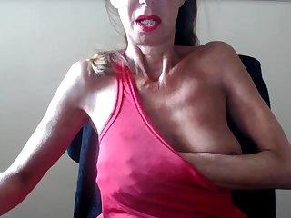 Vibrator Granny show saggy tits