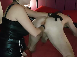 Belgian Dildo and fist on the bed