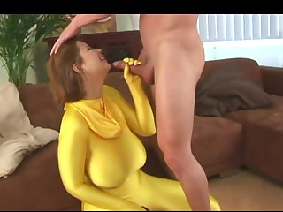 Spandex Terry Huge Saggy Tits Fucked In Spandex Bodysuit