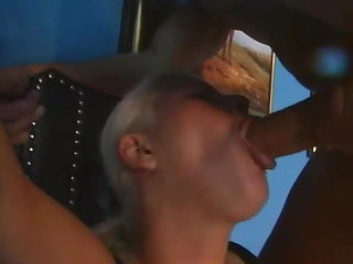 Squirting Monika Sommer aroused in fetish gear squirting for some lunk