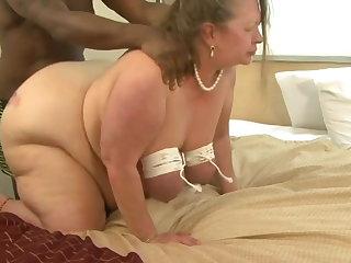 Spanking BBW Granny Roped Tits
