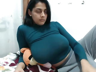 Female Choice Busty Indian Cam Girl Plays with Herself on Webcam
