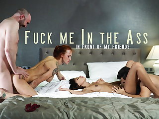 Argentinian FUCK ME IN THE ASS FRONT OF MY FRIENDS - TWO COUPLES 1 BED