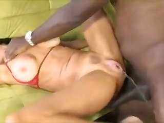 Latex Veronica Avluv Squirts While Fucking With A Black Cock