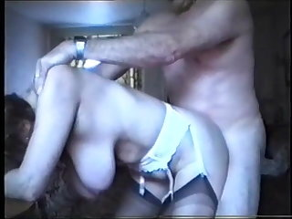 Nylon Breasted mature lady fucked from behind