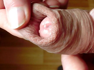 Foreskin play with precum #1090