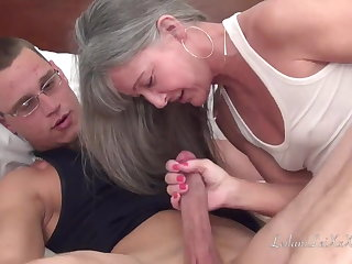 Caught wanking by granny