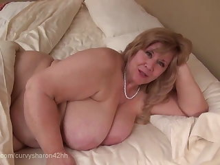 Curvy Sharon - Mommie Gives You Your First Blow Job Curvy Sharon