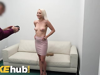 Korean Fake Agent Desk fuck for petite blonde Marilyn Sugar