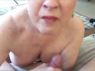 Double Penetration Granny Jewell takes it down the hatch