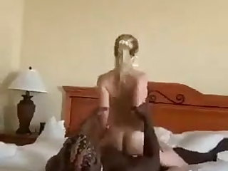 Greek Reverse cowgirl for white BBC slut
