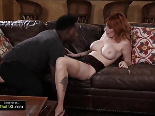Military Hot Redhead Fucks a Black Guy With a Long Dick