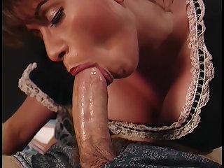 Hairy Big-boobed maid Heather Lee sucks and fucks, upscaled to 4K