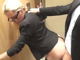 Matures Whore Secretary in Elevator