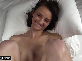 Brunettes Throbbing cock cumming inside her